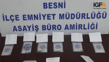Narko timleri Besni ilçesinde Uyuşturucu operasyonundan boş dönmedi